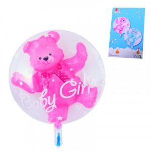 Фолиево мече в балон - розово