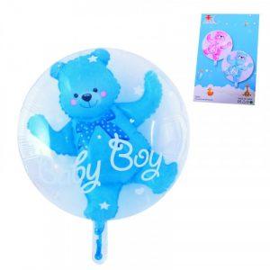 Фолиево мече в балон - син