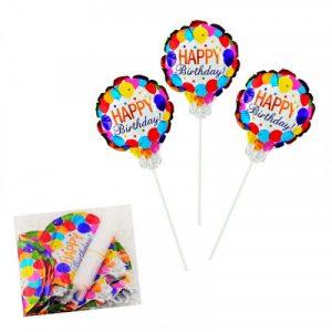 Мини фолиев балон с пръчка