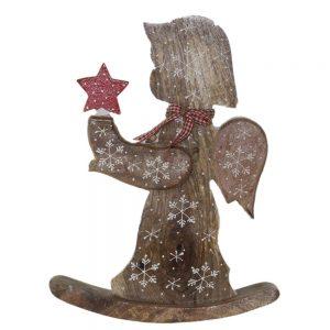 Коледна декорация - Ангел с коледна звезда