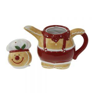"""Коледен чайник с капак """"Мече"""""""