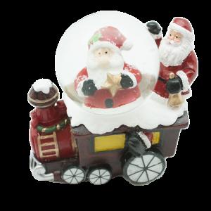 Коледно преспапие -влакче с  Дядо Коледа /27442/