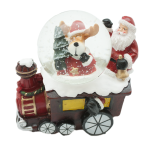 Коледно преспапие -влакче с  Дядо Коледа и еленче/27444/