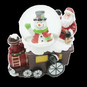 Коледно преспапие -влакче с  Дядо Коледа и  Снежко/27446/