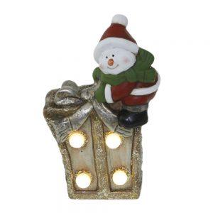 Коледна декорация - светещ подарък /27470/