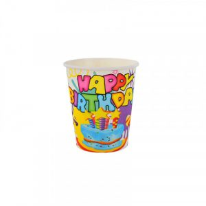 """Парти чаши """" Happy b-day  """" - 10 броя /28094/"""
